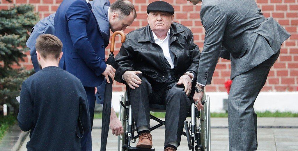 Михаил Горбачёв посетил парад Победы в Москве